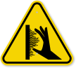 ISO Burn Hazard, Hot Surface Sidewall Symbol Sign