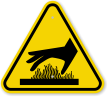 ISO Burn Hazard, Hot Surface Underneath Symbol Sign