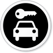 Car Rental Symbol ISO Circle Sign