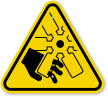 ISO Cutting Hand, Engine Fan Symbol Warning Sign