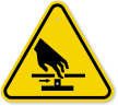 ISO Cutting of Fingers Symbol Warning Sign