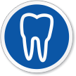 Dental Tooth Symbol ISO Circle Sign