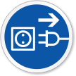 Disconnect Mains Plug Symbol ISO Sign