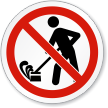 Do Not Create Dust ISO Sign