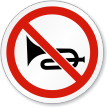 Do Not Honk Symbol ISO Prohibition Circular Sign