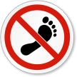 Do Not Step ISO Sign