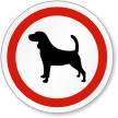 Dog ISO Circle Sign