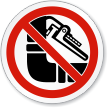 Do Not Disturb Pipe Insulation ISO Prohibition Sign