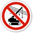 Don't Operate Crane ISO Sign