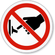 ISO Do Not Switch On Symbol Sign