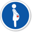 Expectant Mother Graphic ISO Circle Sign