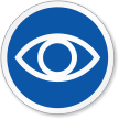 Eye Symbol ISO Circle Sign
