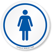 Women's Restroom ISO Circle Sign