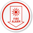 Fire Safety Alarm Symbol ISO Circle Sign