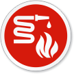 Fire Equipment Symbol ISO Circle Sign