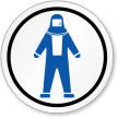 Full Body Suit Symbol ISO Circle Sign