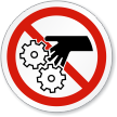Gear Entanglement ISO Prohibition Sign
