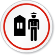 Guard Station Symbol ISO Circle Sign