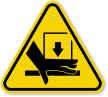 ISO Hand Crushing Force From Above Symbol Sign