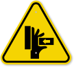 ISO Hand Crushing Force From Right Symbol Sign