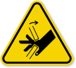ISO Hand Crush, Pinch Point Symbol Warning Sign