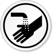Hand Washing Symbol ISO Circle Sign