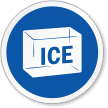 Ice Symbol ISO Circle Sign