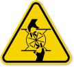 ISO Pinch Point Symbol General Hazard Sign