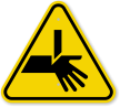 ISO Cutting Hand Straight Blade Symbol Warning Sign