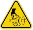 ISO Cutting of Hand, Rotating Shaft Symbol Sign
