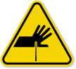 ISO Cutting of Fingers, Straight Blade Symbol Sign