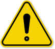 ISO General Danger, Exclamation Symbol Warning Sign