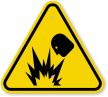 ISO Explosion Hazard Symbol Warning Sign