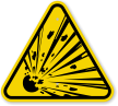 ISO Explosive Materials Symbol Warning Sign