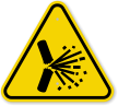 ISO Explosive Sparks Symbol Warning Sign