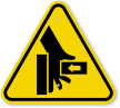 Hand Crushing Force From Right ISO Symbol Sign