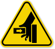 ISO Hand Crushing From Left Symbol Sign