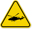 ISO Helicopter Landing Area Symbol Warning Sign