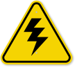 ISO High Voltage Symbol Warning Sign