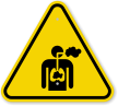 ISO Inhalation Hazard Symbol Warning Sign