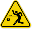 ISO Kickback Hazard Symbol Warning Sign