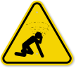 ISO Man Dizzy Suffocation Hazard Symbol Warning Sign