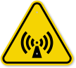 ISO Non-Ionizing Radiation Warning Symbol Sign