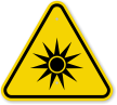 ISO Optical Radiation Symbol Warning Sign