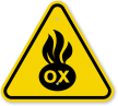 ISO Oxidizer Symbol Warning Sign