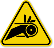 ISO Roller Belt Drive Symbol Warning Sign