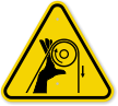ISO Pinch Point Entanglement Symbol ISO Warning Sign