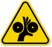 ISO Pinch Point Warning Symbol Sign