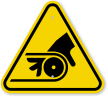 ISO Pinch Point Entanglement Symbol Warning Sign