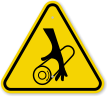 ISO Rotating Shaft Symbol Hazard Sign